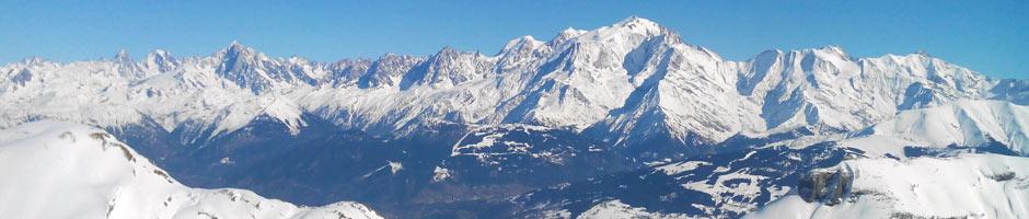 Location Ski de fond - Vue sur le Mont Blanc